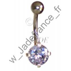 Piercing nombril superbe brillants Jaune ZC