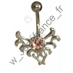 Piercing nombril tribal brillants bleu ZC
