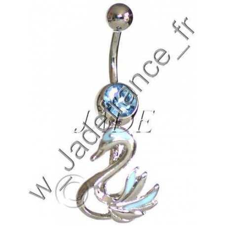 Piercing nombril Scorpion articulé Bleu