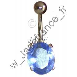 Piercing nombril superbe brillants ovale ZC