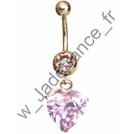 Piercing nombril superbe brillants pendant ZC
