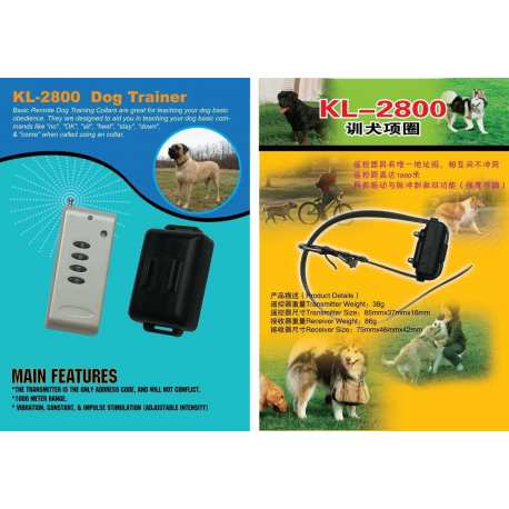 Emetteur + Collier de dressage DOG TRAINER 1000 mètres