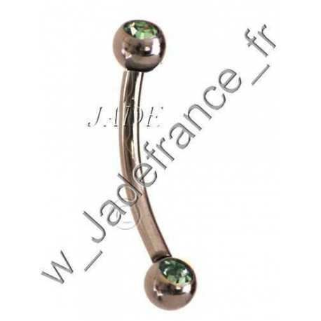PIERCING Arcade 2 brillants bleu ciel