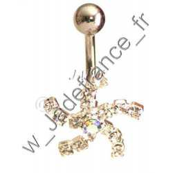 Piercing nombril superbe brillants ZC