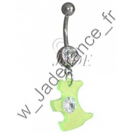 Piercing nombril Scottish Terrier écossais fluo
