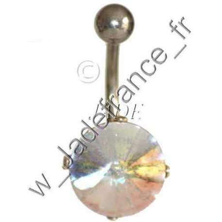 Piercing nombril superbe brillants Irisé