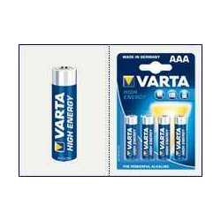 Blister 4 Piles VARTA High Energy LR03 AAA