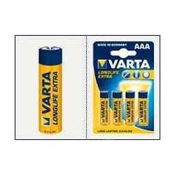 Blister 4 Piles VARTA Longlife Extra LR03 AAA