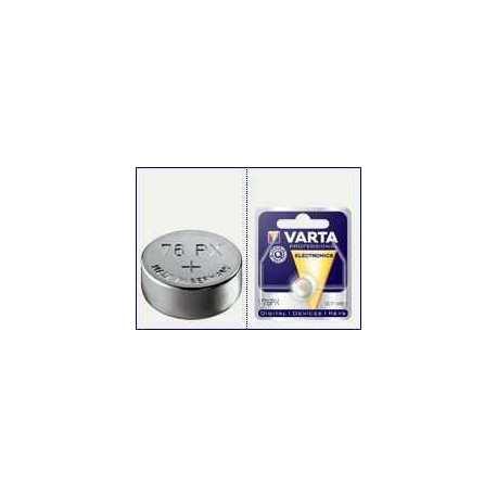 Pile à l'oxyde d'argent SR44 V76PX 1.55V Varta
