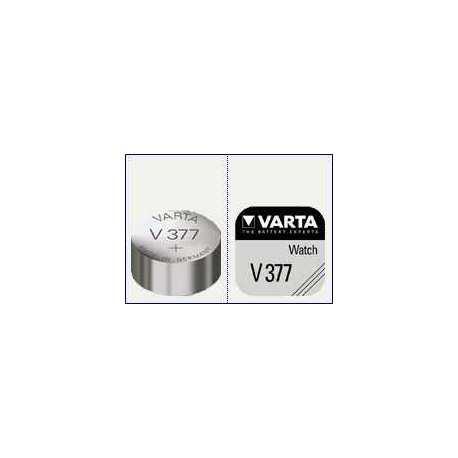 Pile Bouton V377 SR66 1.55V Varta
