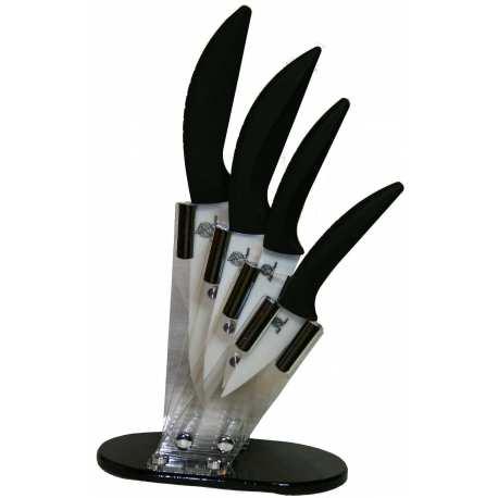 """support 4 couteaux et ses couteaux céramique 3"""" 4 """" 5"""" et 6"""""""