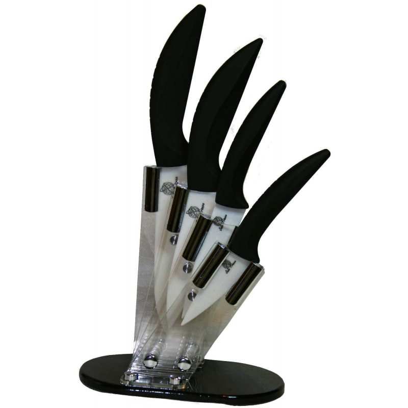 set 4 couteaux support acrylique et ses quatres couteaux 4 5 6. Black Bedroom Furniture Sets. Home Design Ideas