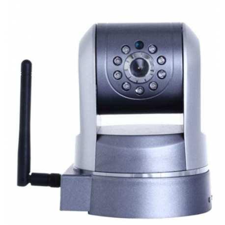 Caméra motorisé IP jour nuit WIFI Argent compatible iphone android