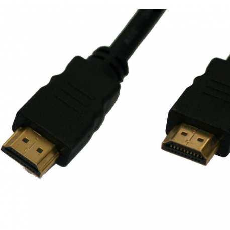 Câble HDMI Mâle Mâle Or 5 mètres full HD blindé