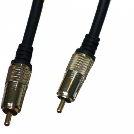 Câble Audio Mâle 1*RCA vers Mâle 1x RCA 1.8 mètres plaqué OR