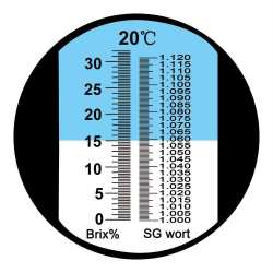 Réfractomètre Bière 0 à 32 brix 1.000 à 1.120 SGwort