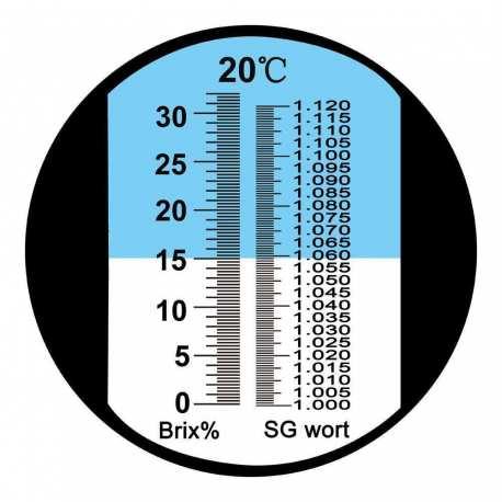 Réfractomètre Alcool RHW25 ATC