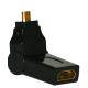 Adaptateur HDMI Mâle Femelle rotation 180°