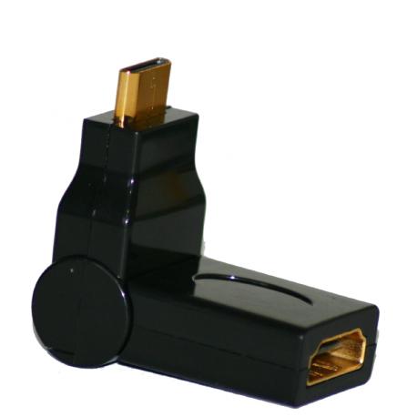 Adaptateur mini HDMI Mâle HDMI Femelle rotation 180°