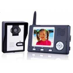 """Interphone Vidéo couleur 3.5"""" sans Fil avec prise de photos"""