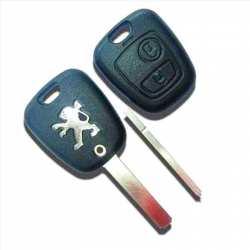 Coque clé télécomande Plip Peugeot 107 207 307 sans rainure
