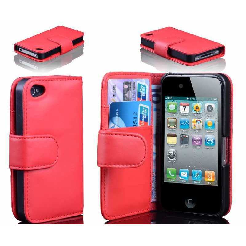 Housse de protection pour apple iphone 4 for Housse iphone 4 cuir