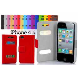 Housse protection Apple Iphone 4 cuir