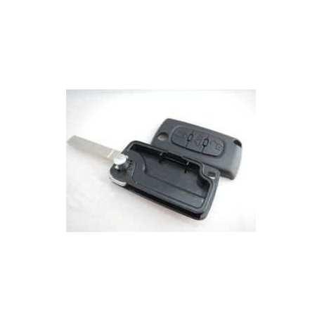 Coque clé télécomande Plip Peugeot 207 307 407 807 CE523 3 boutons lame rainuré