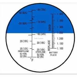 Réfractomètre Antigel Batterie Glycol éthylène RFA70 ATC
