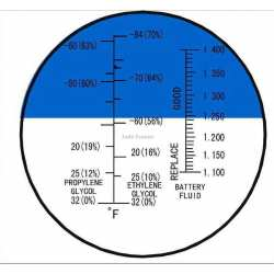Réfractomètre Antigel Batterie Glycol éthylène RFA50 ATC