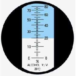 Réfractomètre Alcool RHW80 ATC