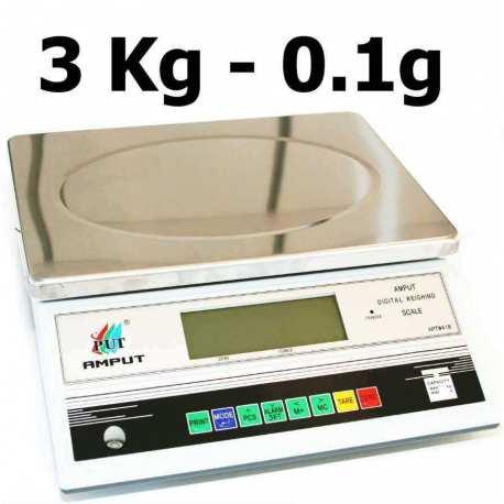 Balance de precision 3000g 0.1g APTM418