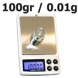 Balance de poche 100 gr 0.01 avec poids étalon