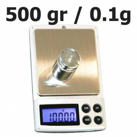 Balance de poche maxi 500 grammes précision 0.1 gr