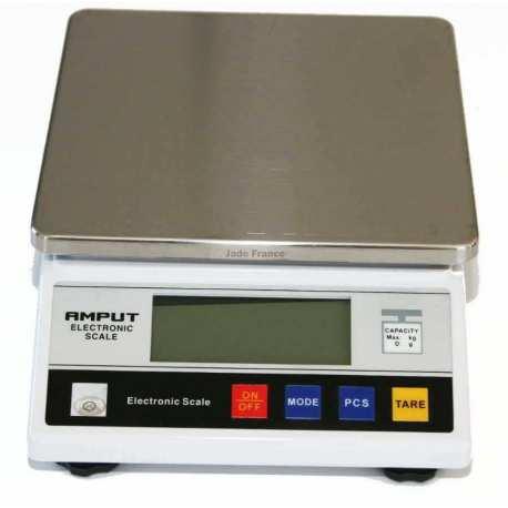 Balance de precision 10 000g 1g APTP457B plateau carré
