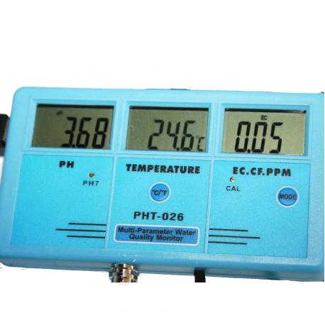 PH Mètre professionnel 5 en 1 ATC PHT-026