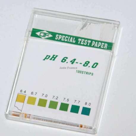 PH testeur Papier ph 6.4 à 8 PH 100 bandelettes