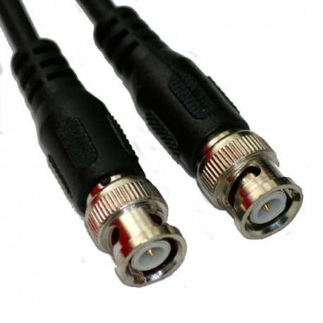 Câble BNC Mâle Mâle 0.8 mètre noir