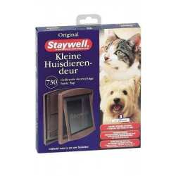 Staywell porte pour chat chien 730 chatière Brun